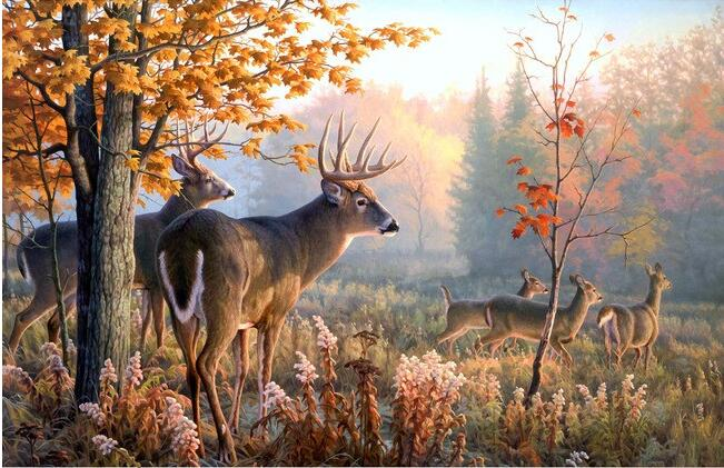 3d wallpaper custom mural non-woven 3d room wallpaper  Wall of setting of milu deer in the forest photo wallpaper for walls 3 d терентiй травнiкъ вечный май