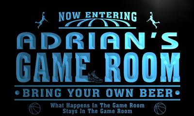 x0227-tm Adrians Man Cave Game Room Custom Personalized Name Neon Sign Wholesale Dropshipping On/Off Switch 7 Colors DHL