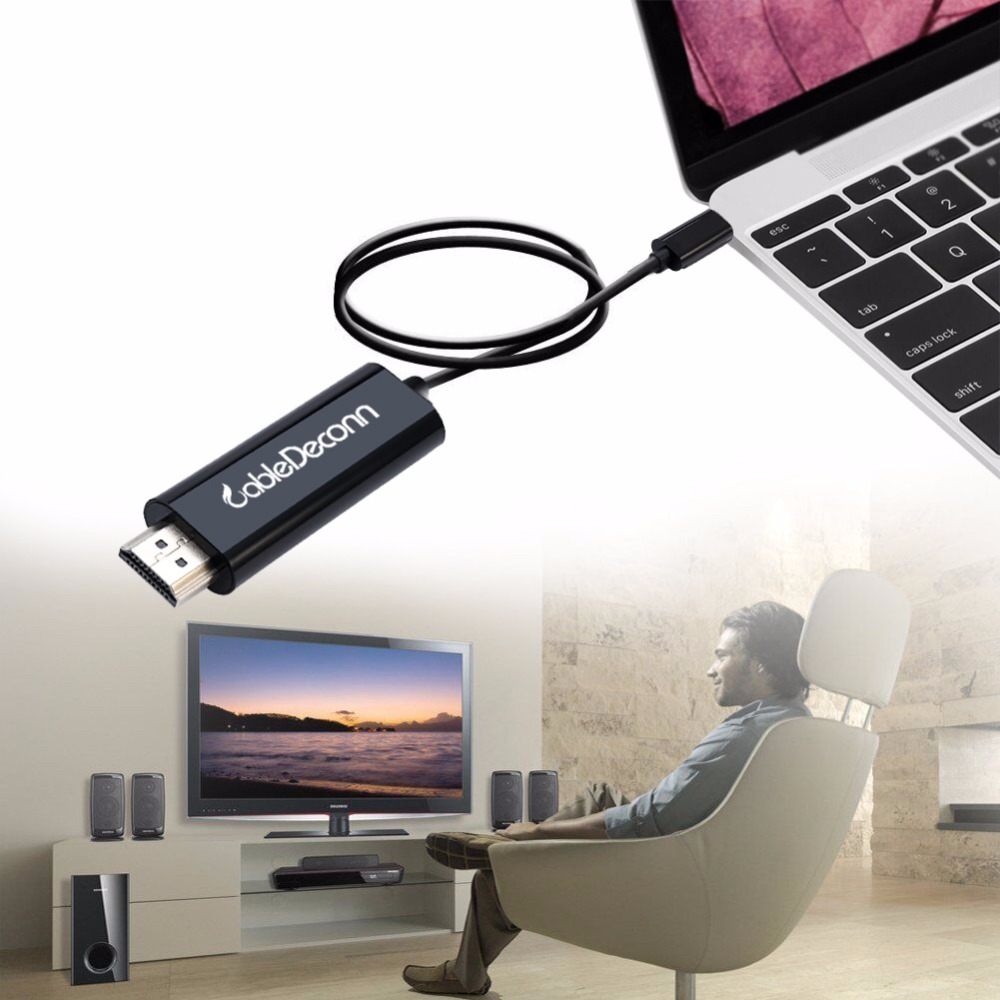 USB C USB 3.1 Type C Thunderbolt 3 Male to HDMI Male 4K