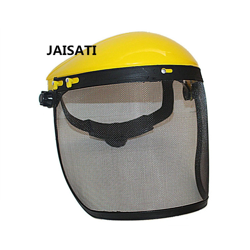 все цены на JAISATI Metal mesh mower garden splatter screen explosion - proof masks protective carpentry protective masks
