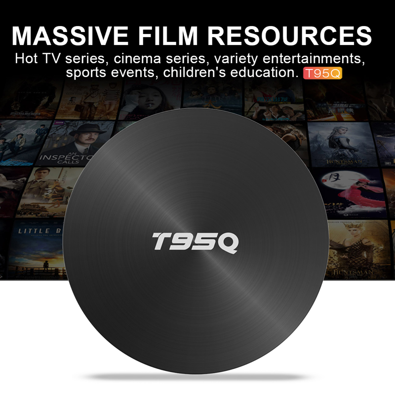 Android 8.1 TV Box T95Q Amlogic S905X2 4K Media Player 4GB RAM 64G DDR4 QuadCore 2.4G&5G Dual Wifi pk T9
