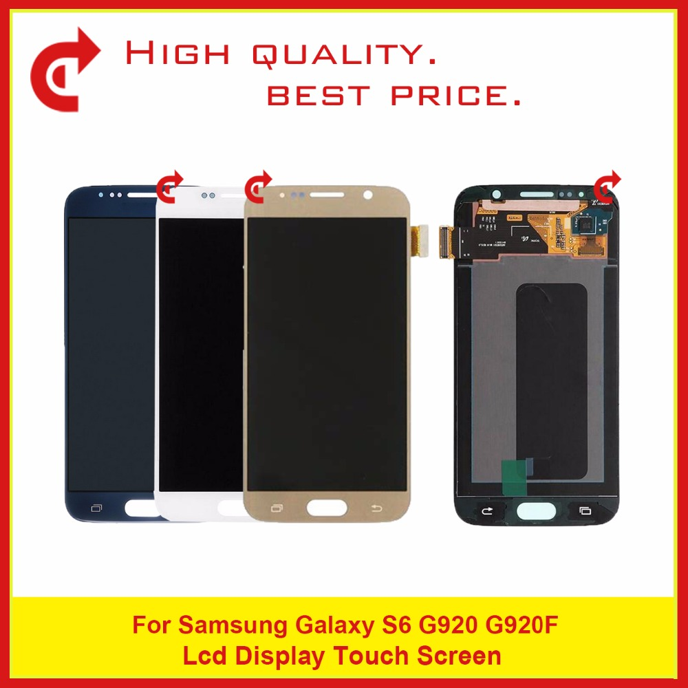 Super AMOLED 5.1 For Samsung Galaxy S6 G920 G920F LCD Display Touch Screen Digitizer Assembly CompleteSuper AMOLED 5.1 For Samsung Galaxy S6 G920 G920F LCD Display Touch Screen Digitizer Assembly Complete