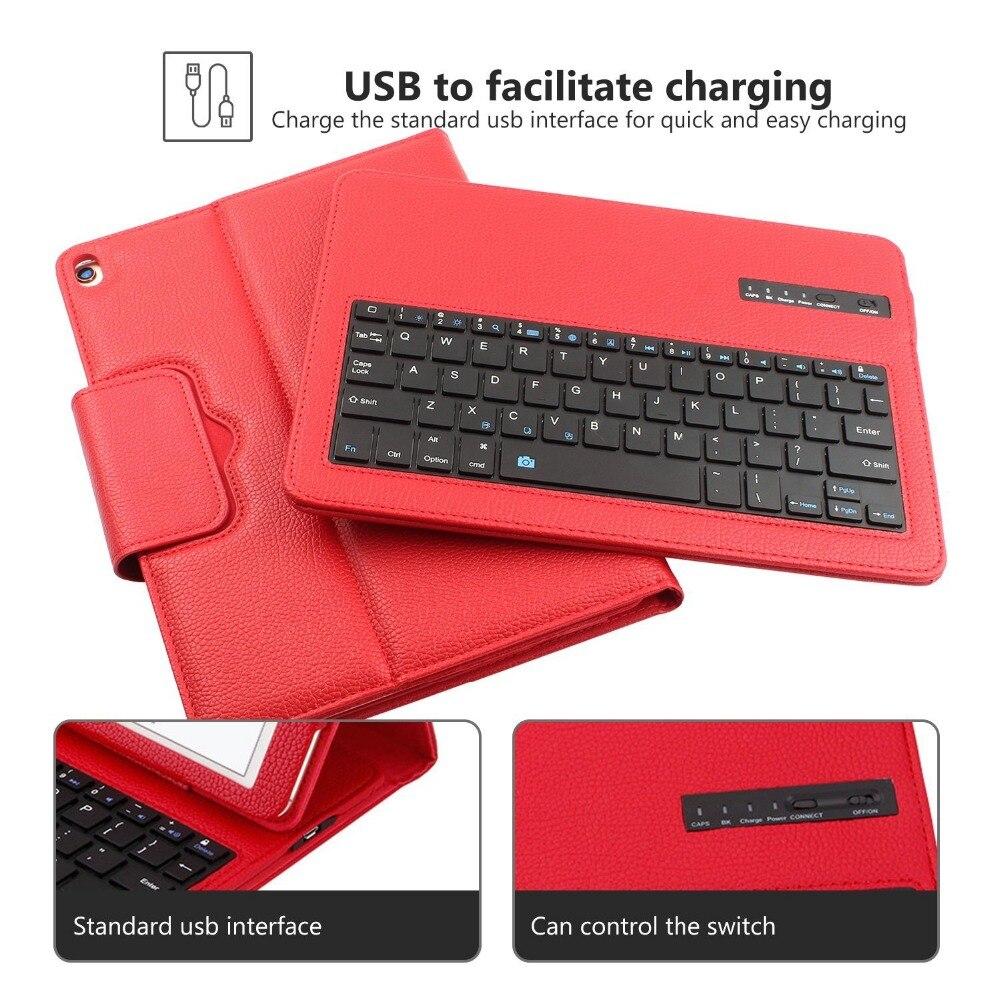2ca65dbfc24 GOOJODOQ Case For iPad pro 10.5 Bluetooth Keyboard Case + PU Leather Smart  Cover Wireless Bluetooth Keyboard for ipad pro 10.5-in Tablets & e-Books  Case ...