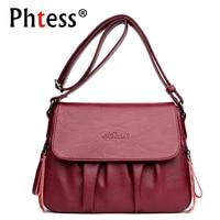 2018 New Women Messenger Bags Small Leather Shoulder Bags Female Crossbody Bag Flap Ladies Vintage Bag