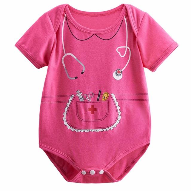 Bébé Fille Infirmière Costume Body Infantile Parti Mignon Cosplay Combishort 0-18 Mois