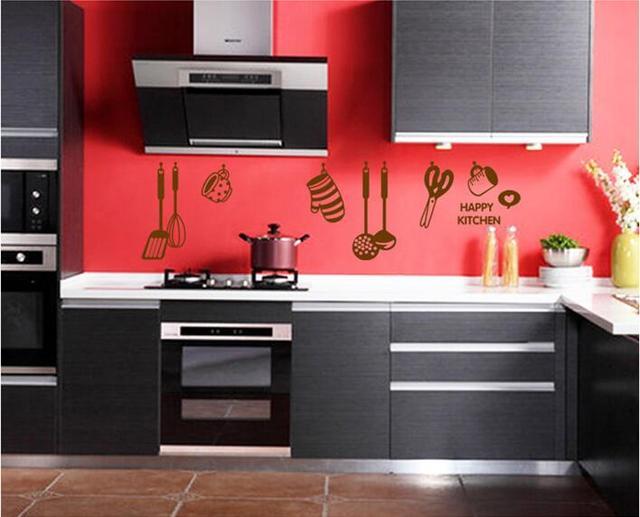 Kookgerei keuken muurstickers waterdichte keukens decoratie cafe