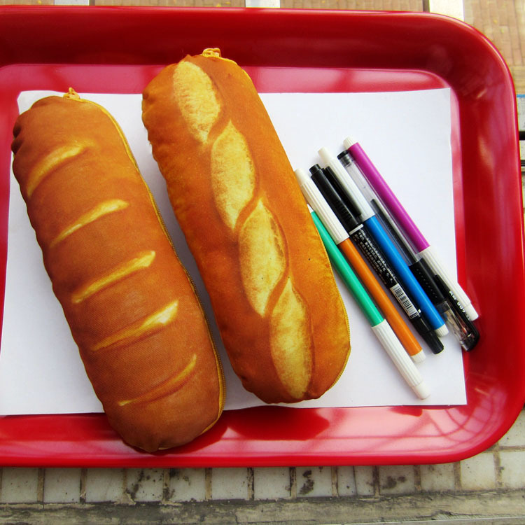 1Pc/Sell Bread Pencil Case Fabric Cute School Supplies Bts Stationery Gift  School Cute Pencil Box Pencilcase Pencil Bag