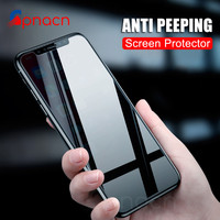 GPNACN Privacy Protection Film Tempered Glass For iPhone X 10 6 6s 7 8 Plus Screen Protector For iPhone 8 7 6 5 5S SE Glass Case Phone Screen Protectors