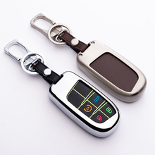 New Fashion Zinc Alloy Noctilucent Car Key Protective Case  Cover For Jeep Series Remote key chain