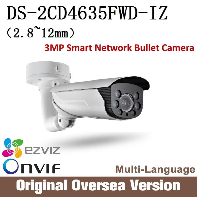 HIKVISION Ip Camera DS-2CD4635FWD-IZ 2.8-12mm 3MP Smart Vandal-proof Bullet camera audio Ip66 English Version H265 Onvif RJ45 uk change up intermediate teachers pack 1 audio cd 1 cd rom test maker