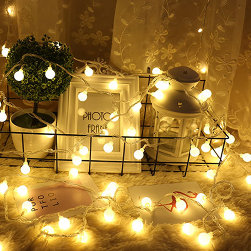 1M 3M Fairy Lights Garland LED Ball String Lights Waterproof For Christmas Tree Wedding Home Indoor Decoration Battery Powered