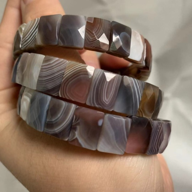 natural botswana agate/Sardonyx stone beads bracelet natural gemstone bangle jewelry for woman for gift wholesale !