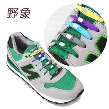 7 color NEW Silicone shoelaces No Tie Shoelace fashion colorful women man laces Sneakers Solid shoe lacing