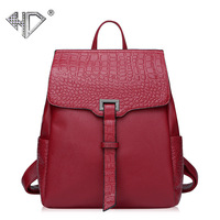 Women's bag factory Europe and America fashion backpack spring and summer new women's bag crocodile pattern leather backpack