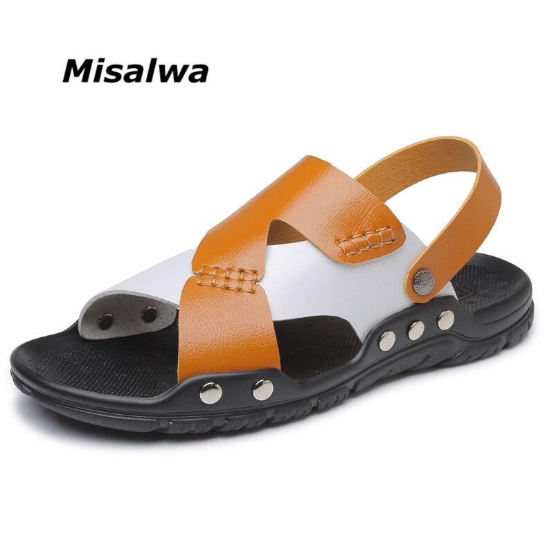 631b2795e4101 Online Shop Misalwa Large Size Men New Arrival Sandals 2019 Casual Men  Beach Sandals Yellow   Black  Blue-white   White Drop Shipping