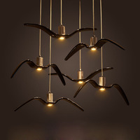 Nordic industrial simplicity creative post modern restaurant network cafe clothing store bar gulls bird chandeliers led fixture