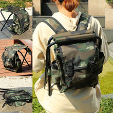 Portable Foldable Fishing Chair Multi-function Outdoor Storage Bag 19ing