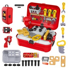 Tool Toys Set Plastic Building Kids Service Construction Educational for Children Boys And Bag Gift Worth kids tool