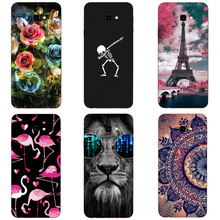 Phone Case For Samsung Galaxy J4 Plus Soft Silicone Cute Cat Painted Back Cover For Samsung J4 plus Case