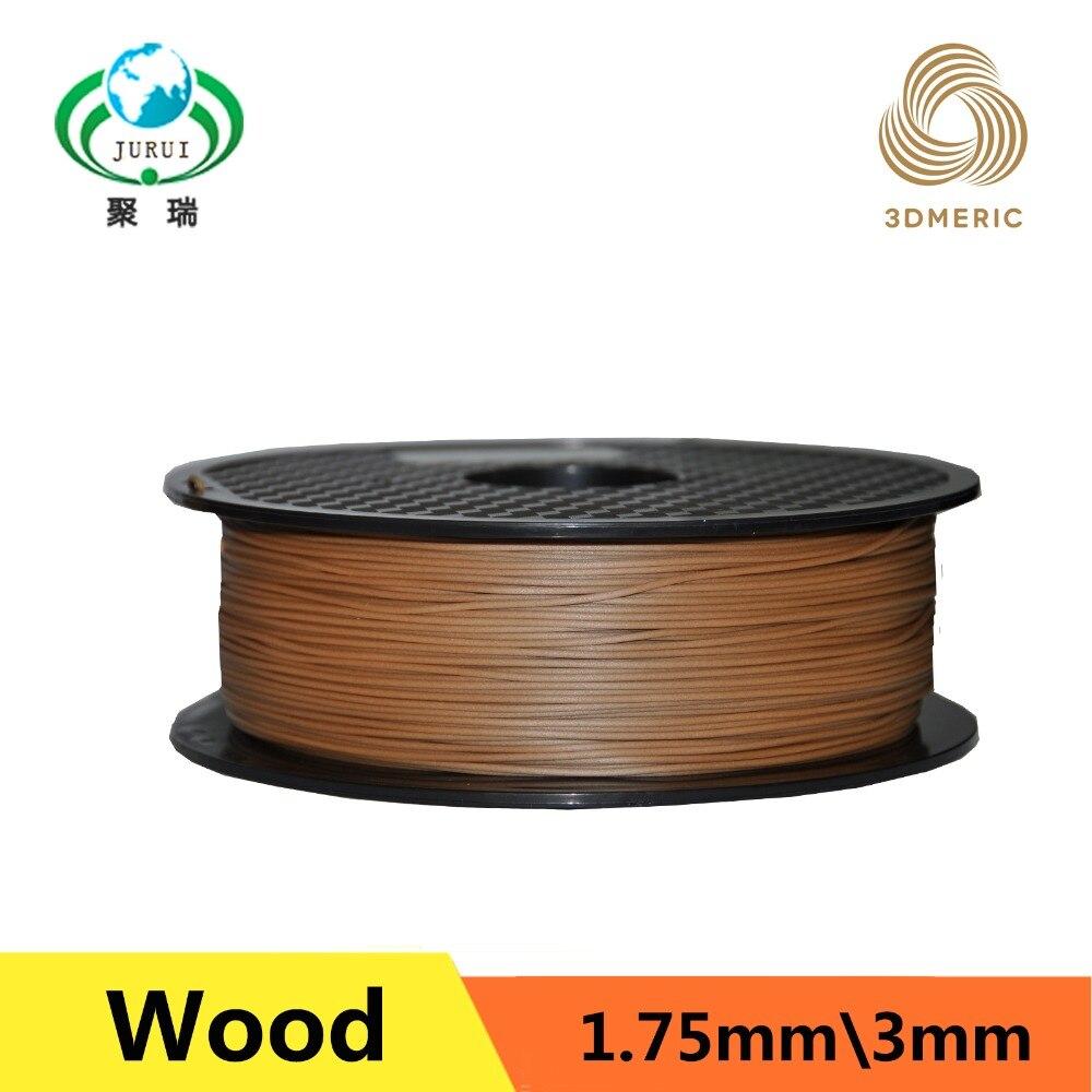 3d printer filaments Dark color Wood 1.75mm 1kg plastic Rubber Consumables For Material MakerBot/RepRap/UP/Mendel yellow color pla 1 75mm 1kg spool 3d printer filaments for makerbot reprap up golden