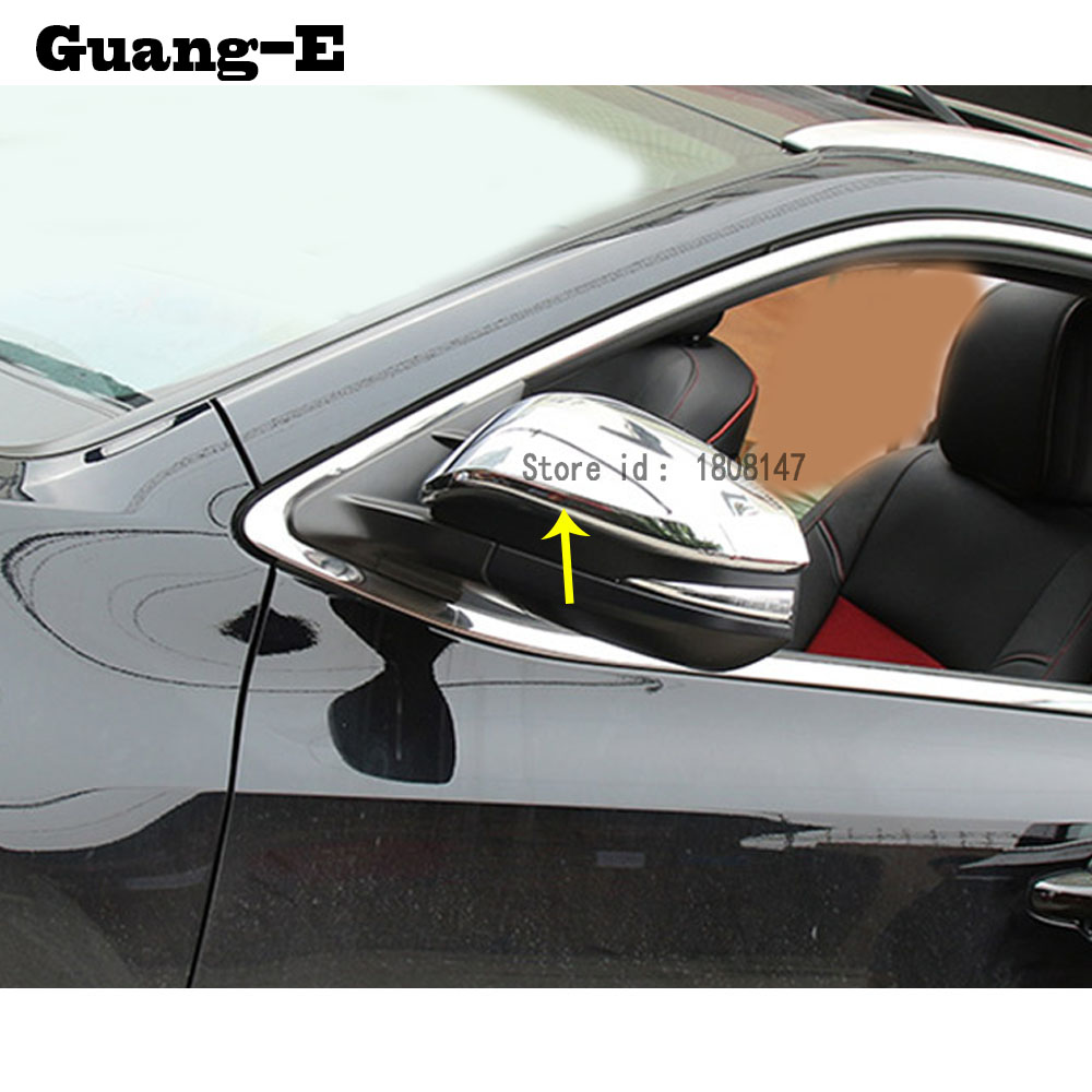 ABS styling decoration Car stick rear view Rearview Side glass Mirror Cover trim frame 2pcs for Toyota Highlander 2015 2016 2017