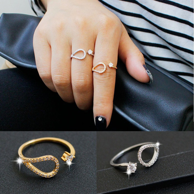 Hesiod New Design Gold Silver Color Women Ring Austria Crystal