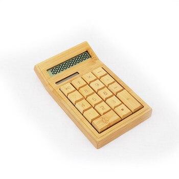 calculatrice en bambou