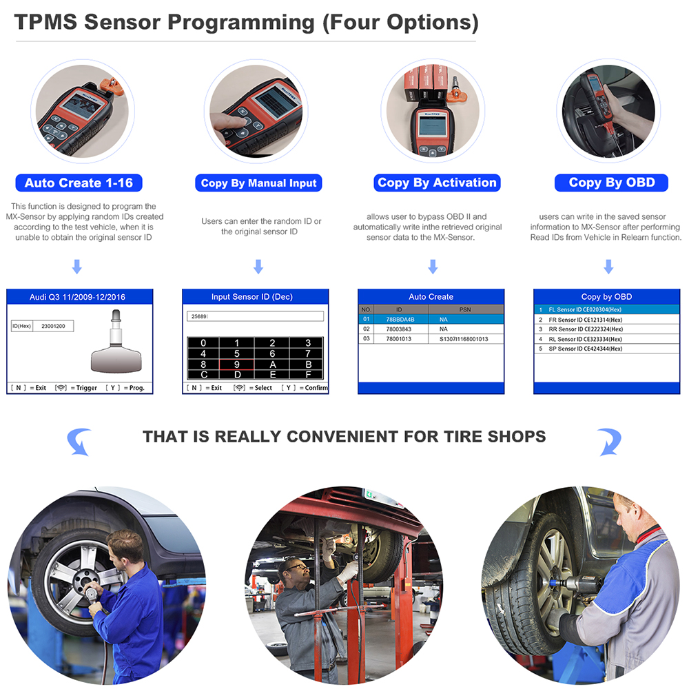 Autel tpms systems tire pressure monitoring system activate and Diagnostic Tool TS501 TPMS sensor diagnostic and Program tool in Pressure Vacuum Testers from Automobiles Motorcycles