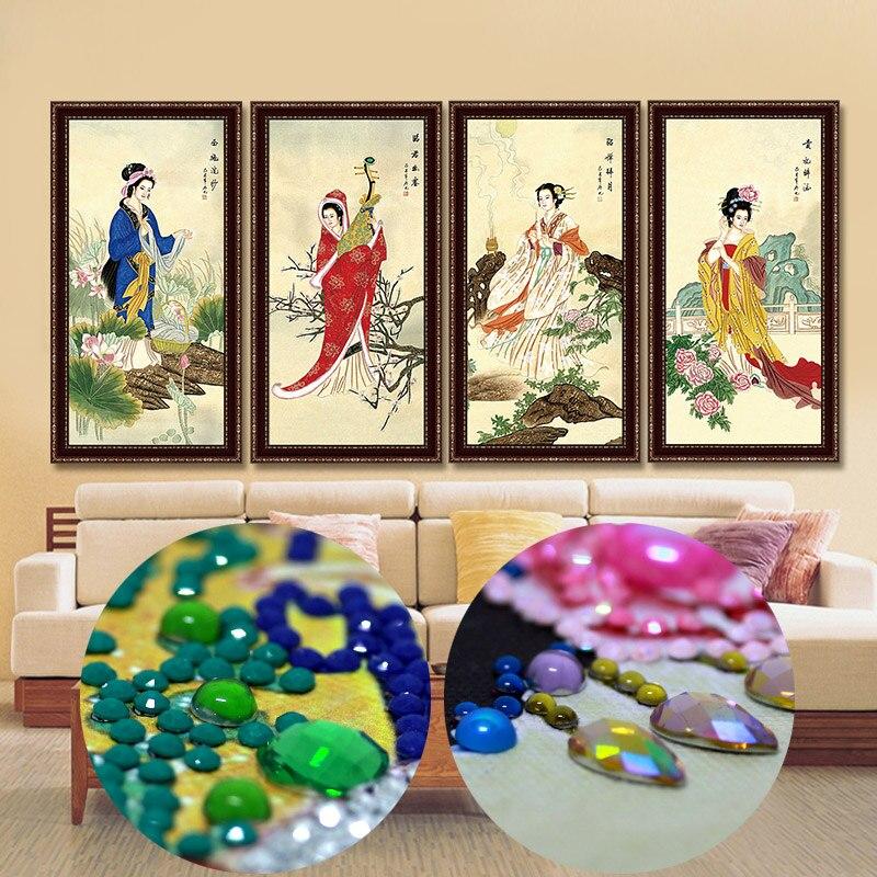 DIY 5D Diamond Mosaic Cross Stitich Pastoral Flock Embroidery Art Decoration