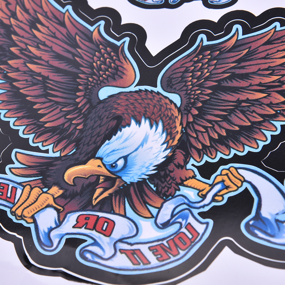 Car sticker eagle - 5pcs Wholesale Beauty Magician Skull Eagle Personalized Car Sticker Motorcycle Decal