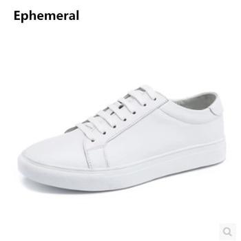 Унисекс дешевые для мужчин брендовая дизайнерская обувь из натуральной аутентичной кожи плюс размеры 48 платформа один повседневное кружев...
