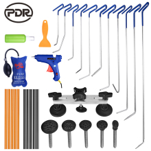 PDR Hook Tools Spring Rods Paintless Dent Removal Car Tools Kit Auto Tool Set Pulling Bridge Glue Sticks