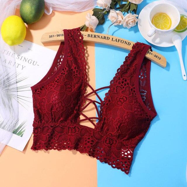 441cae9de2 Women Seamless Padded Bras Wide Strap Lace Bralette Bras for Women Stretch  Brassiere Wireless Bra Top Underwear Women