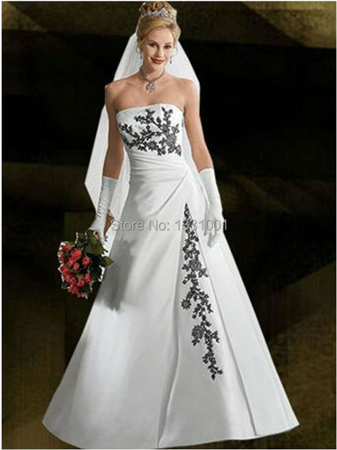Plus size wedding dresses in black and white