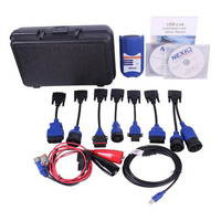 USB Link Diesel Heavy Duty Truck Diagnostic Tool Software CD Code Reader Scanner