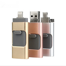 high speed otg Flashidrive 3 in 1 Phone Memory USB Flash Drive U Disk For iPhone and for iPad Android Cell Phone