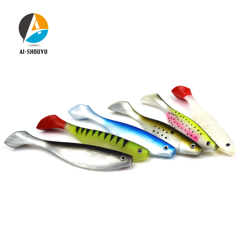AI-SHOUYU 3pcs <font><b>Big</b></font> Size <font><b>Soft</b></font> Fishing Lure 15cm 26g T Tail Fish <font><b>Bait</b></font> Swimbait Jig Hook <font><b>Soft</b></font> <font><b>Bait</b></font> Sea Fishing Lure image