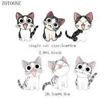 ZOTOONE  Iron on Transfer Patches for Clothing Lovely Fashion Glasses Cat DIY Kids Gift Animal Beaded Applique Clothes