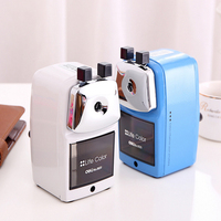 Deli 0620 Full Metal Shell Pencil Sharpener Pencil Machine With Metal Backet For Artist Students And