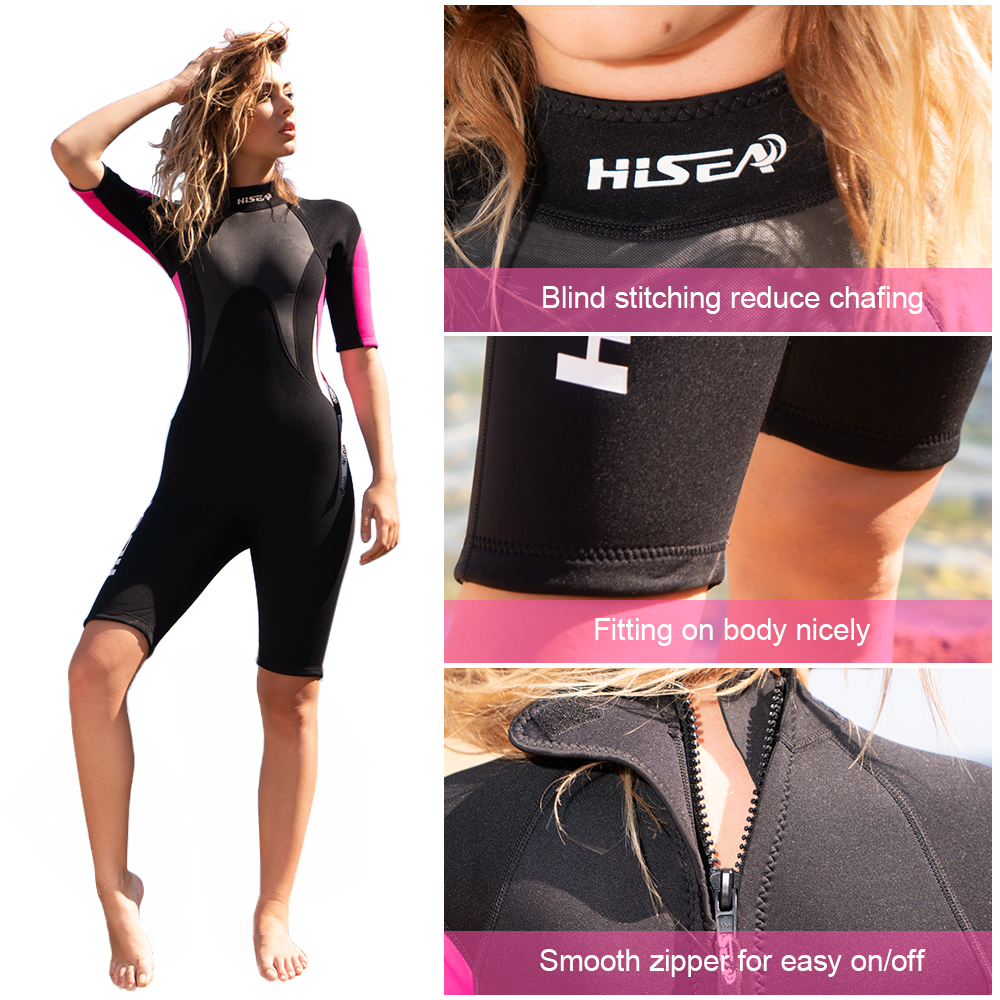 2019 Women 39 s Diving Suit UV Protective Wetsuit Snorkeling Scuba Surfing Swimming 2 5MM Neoprene Diving Jumpsuit Water Sports in Wetsuit from Sports amp Entertainment