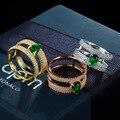 Стерлингов серебряные ювелирные изделия Кольца инкрустированные CZ микро-ювелирные изделия женщины Рождественский подарок обручальное кольцо бесплатная доставка
