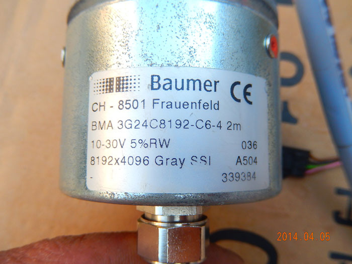 Used Fort German League BAUMER encoder CH-8501 3G24C8192-C6-4 2M physical spot 033 0512 8 encoder disk encoder glass disk used in mfe0020b8se encoder