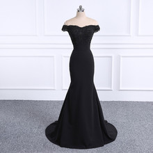 2018 Prom Dresses Robe De Soiree black Prom Dress Real Photo Sweetheart Mermaid Prom Dresses Long Vestido De Festa cheap Lycra Spandex Sequined Appliques Beading 563436 Short Katristsis d Vintage Off the Shoulder Natural Trumpet Mermaid Floor-Length