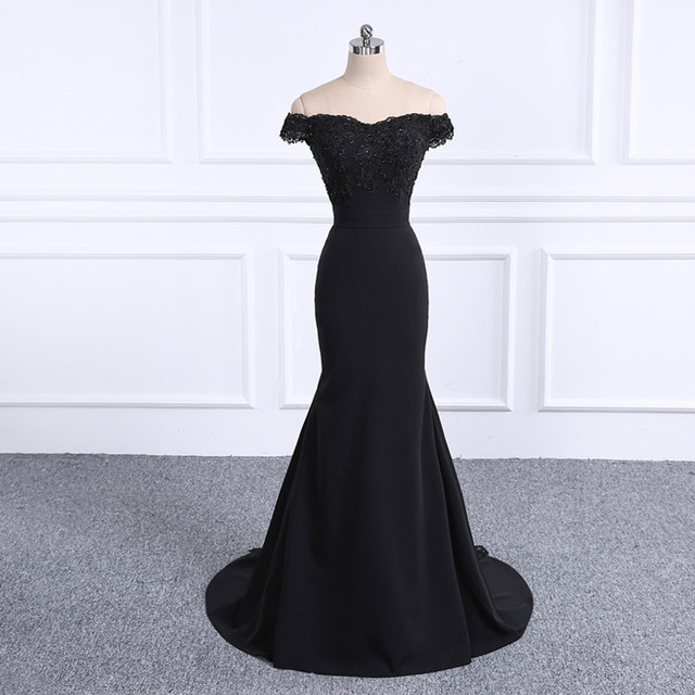 Robe De Soiree black Sweetheart Mermaid Prom Dress