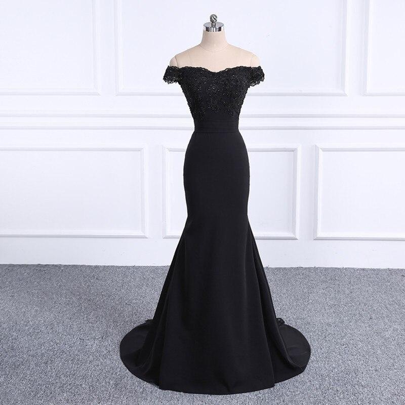 2019 платье для выпускного вечера es Robe De Soiree черное платье для выпускного вечера настоящая фотография Милая Русалка платье для выпускного веч