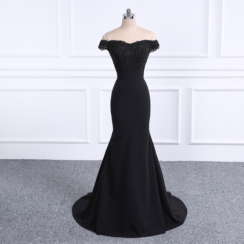 2019   Prom     Dresses   Robe De Soiree black   Prom     Dress   Real Photo Sweetheart Mermaid   Prom     Dresses   Long Vestido De Festa