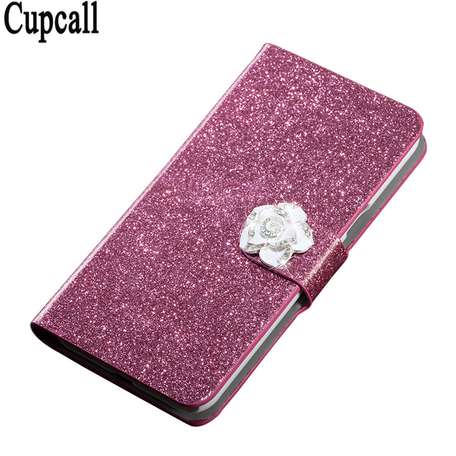 New style original High taste flip PU leather Good taste contracted phone back cover For Huawei Y6 II / Y6II 2 5.5 inch case