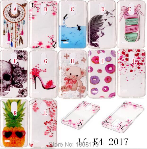 Flower Cartoon Soft TPU Case For LG K4 K8 K10 2017 G6 Huawei 6S P10 PLUS Y5 2017 ZTE Z981 Teddy Bear gel Cell Phone Cover 100pcs