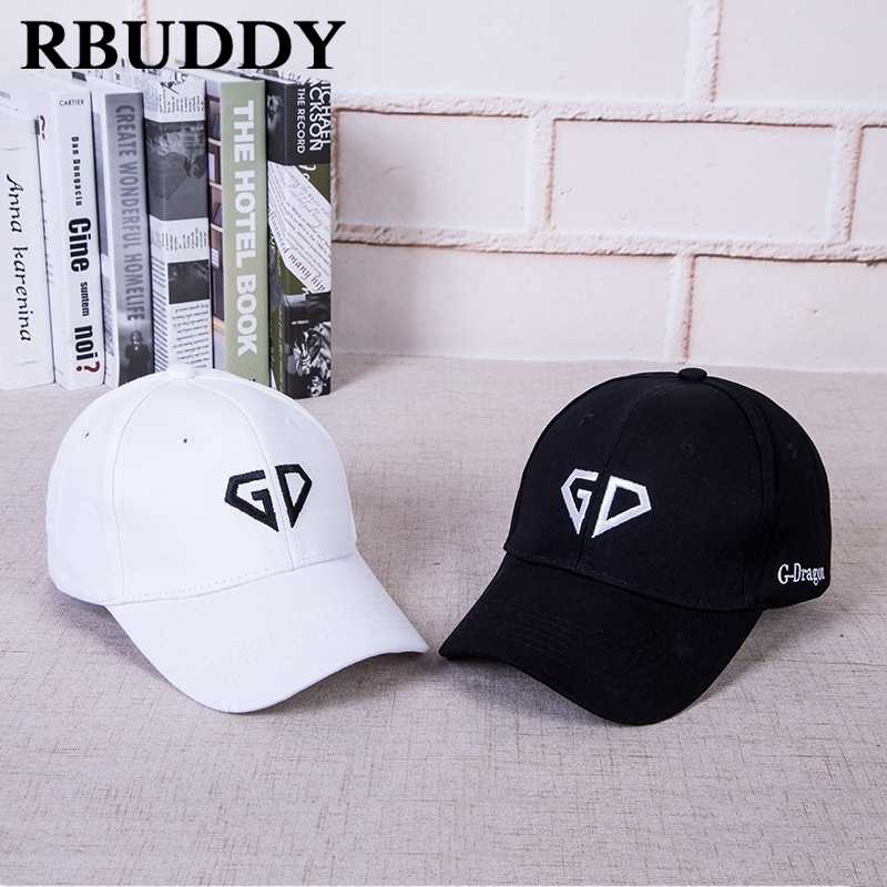 35f9fc337b8f1 RBUDDY GD Baseball Caps Bigbang Hip Pop Snapback Summer Trucker Dad Hat for Women  Men Adjustable