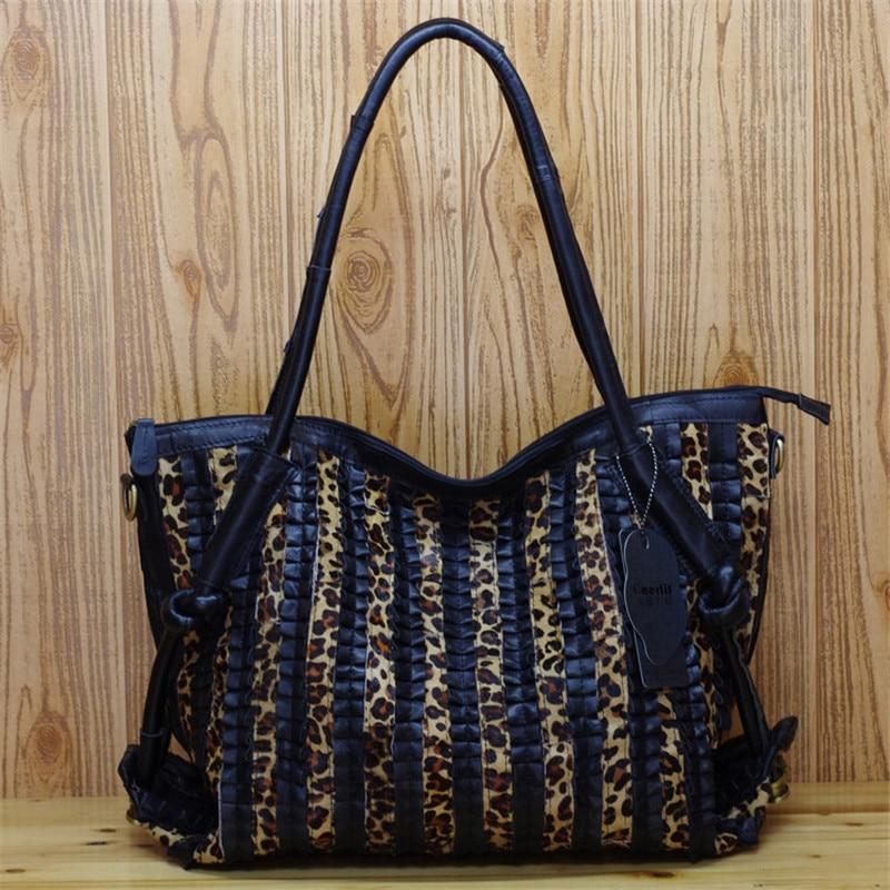 Caerlif Xmas gift for mom Women Handbags Shoulder Crossbody Bags Genuine Leather Bag Bolsas ladies tote bag Leopard grain bag